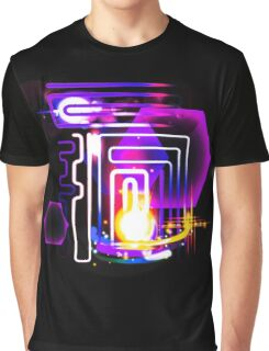 Abstract Neon Lights and Lens Flares Art Graphic T-Shirt