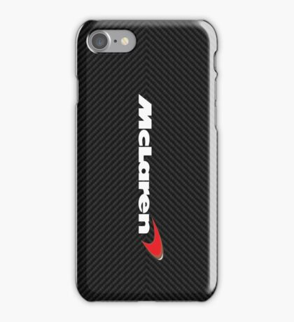 Mclaren case (carbon fiber edition) iPhone Case/Skin