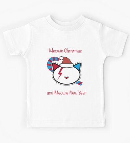 Meowie Christmas and Meowie New Year 2 Kids Tee