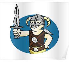 Dovahkiin Vault boy mash-up Skyrim/Fallout Parody Poster