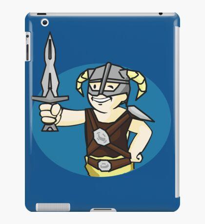 Dovahkiin Vault boy mash-up Skyrim/Fallout Parody iPad Case/Skin