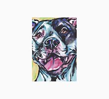 Pitbull Dog Bright colorful pop dog art Unisex T-Shirt