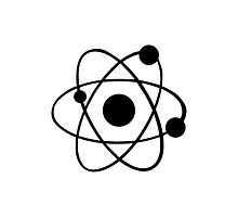 Atom icon Photographic Print