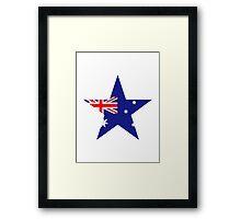 Australia flag star Framed Print