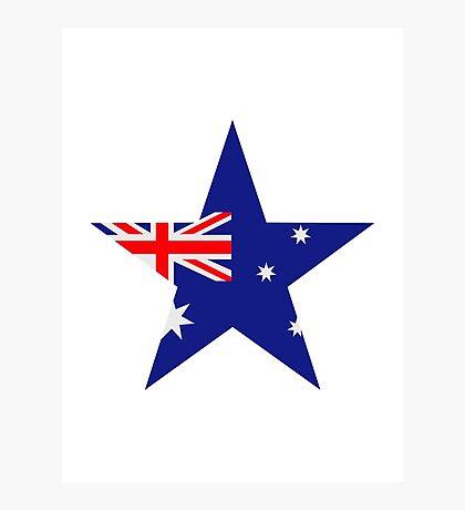 Australia flag star Photographic Print