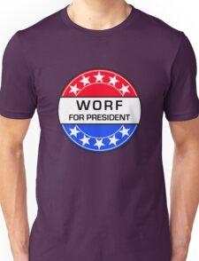 WORF FOR PRESIDENT Unisex T-Shirt