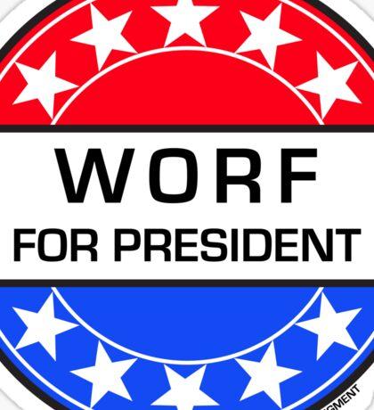WORF FOR PRESIDENT Sticker