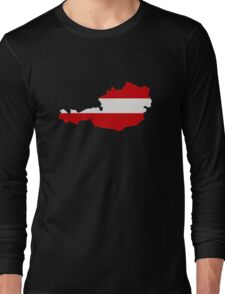 Austria map flag Long Sleeve T-Shirt