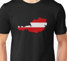 Austria map flag Unisex T-Shirt
