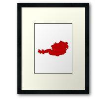 Austria Map Framed Print