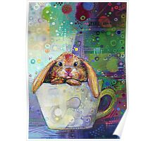 Bunny in a teacup Poster