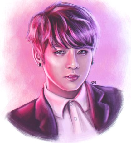 Jungkook (BTS) - Digital Painting Sticker