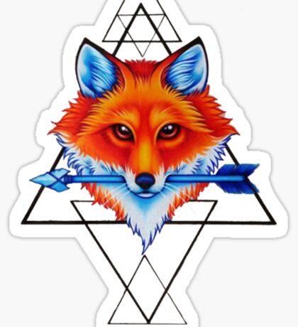 Geometry fox Sticker