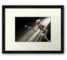 Cyborg in love Framed Print