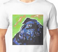 Pug Dog Bright colorful pop dog art Unisex T-Shirt