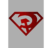 Superman hammer and sickle Photographic Print