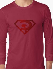 Superman hammer and sickle Long Sleeve T-Shirt