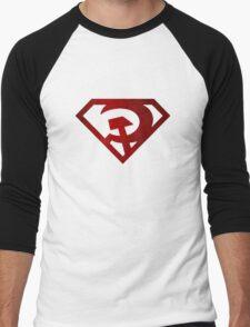 Superman hammer and sickle Men's Baseball ¾ T-Shirt