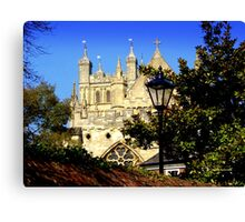 A Glimpse of Exeter Cathedral Canvas Print