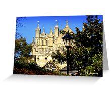 A Glimpse of Exeter Cathedral Greeting Card