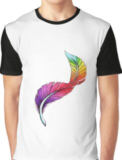 Rainbow unicorn feather Graphic T-Shirt