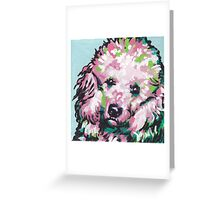 Poodle Dog Bright colorful pop dog art Greeting Card