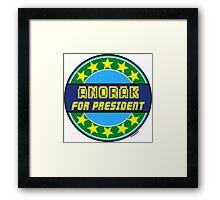 ANORAK FOR PRESIDENT Framed Print