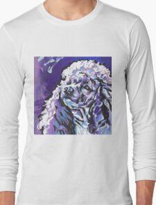 Poodle Dog Bright colorful pop dog art Long Sleeve T-Shirt