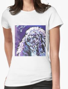 Poodle Dog Bright colorful pop dog art Womens Fitted T-Shirt
