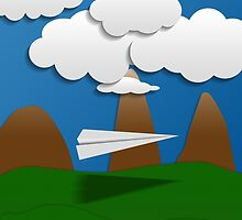 Paper Airplane 58 by YoPedro