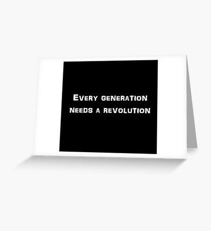 Revolution (white) Greeting Card