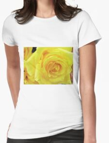 beautiful yellow rose flower. Love, friendship, romance. Floral photo art. Womens Fitted T-Shirt