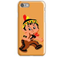 Cute retro Kid Billy as a Native Indian iPhone Case/Skin