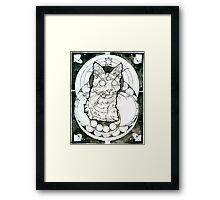 third eye felined Framed Print