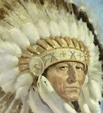 The Chief  Retro Vintage Native American Man Cool Art Design Sticker