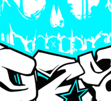 Skull Paint (Blue) Sticker