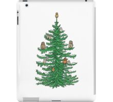 Christmas Fir Tree with Owls iPad Case/Skin