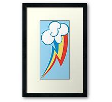 Rainbow Dash Cutie Mark Framed Print