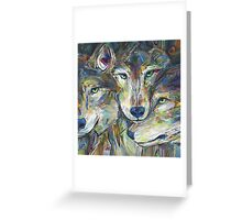 Gray wolves Greeting Card