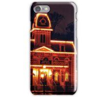 Main Street City Hall in the Rain iPhone Case/Skin