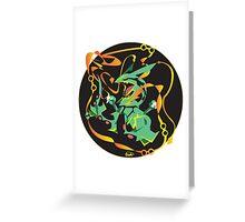 Delta Dragon Circle Greeting Card