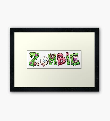 Zombie letters Framed Print