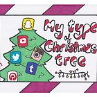 Social Media Christmas Card by Drawingsbymaci