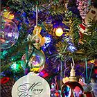 Merry Christmas Greeting Card - Decorated Tree #1 by MotherNature