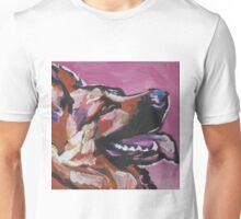 German Shepherd Bright colorful pop dog art Unisex T-Shirt