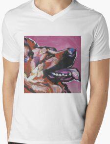 German Shepherd Bright colorful pop dog art Mens V-Neck T-Shirt