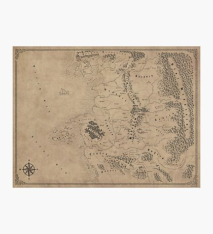 Witcher Universe Map - English Photographic Print