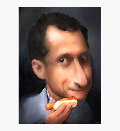 Anthony Wiener with a Weener for Prints Photographic Print