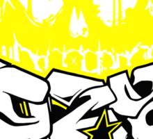 Skull Paint (Yellow) Sticker