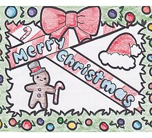 """Merry Christmas"" Christmas Card by Drawingsbymaci"
